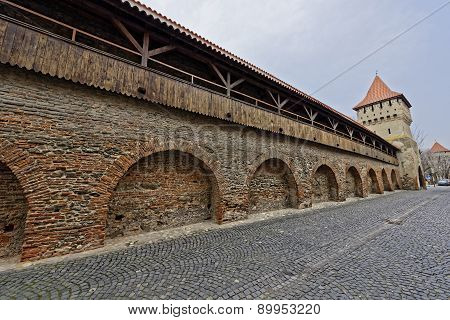 Wooden Ramparts Of The Fortress Wall  Sibiu Romania