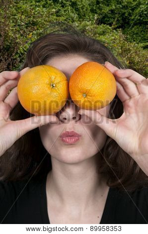 Woman And Orange
