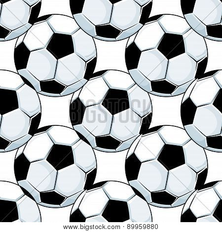 Football or soccer balls seamless pattern