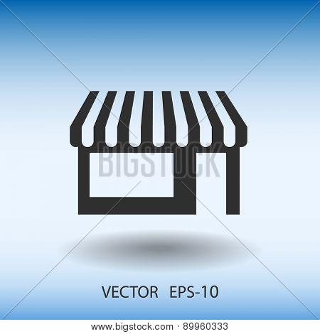 Flat Store icon, vector illustration