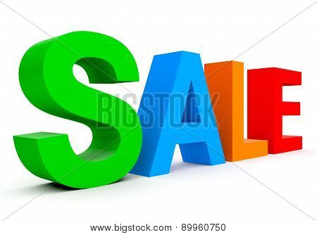 Sale - Colorful 3D Letters Isolated On White