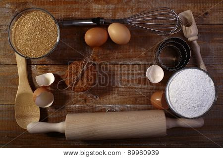 Collection Frame Of Ingredients