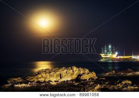 Moonrise Over Jeongdongjin