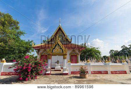 Temple with tree and blue sky