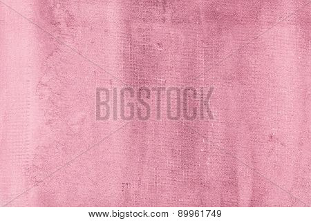 Cracked Cement Wall, Textured Concrete Background. Pink, Rose-colored And Rosy Colors