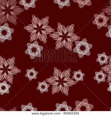 Guilloche Flower Seamless Pattern