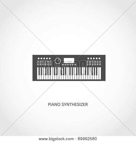 Musical instrument piano flat icon