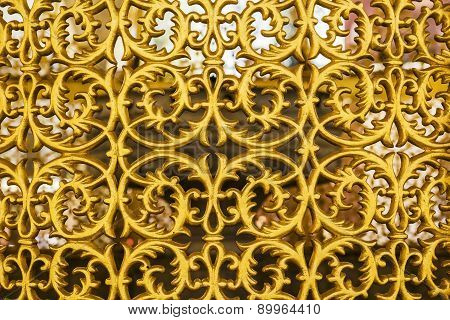 background beautiful gilded ornamental grille gate