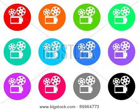 cinema vector icons set