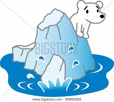 Polar Bear and ice floe