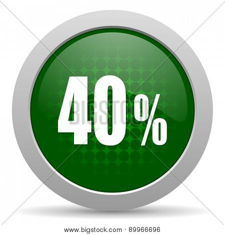 40 percent icon sale sign