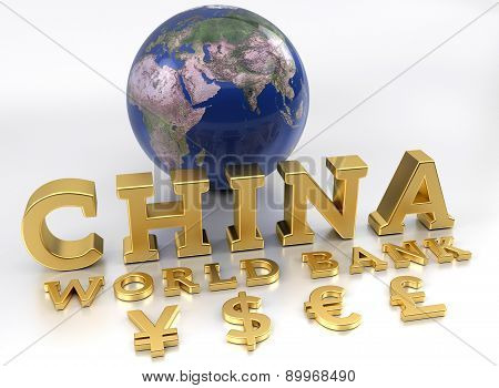 China World Bank - Aiib - The Asian Infrastructure Investment Bank - 3D Render