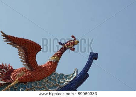Swan Stucco On The Rooftop