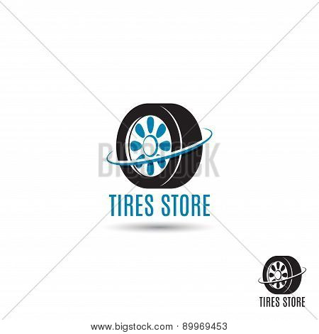 Vector Template Of Tires Store Logo