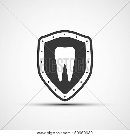 Shield With A Human Tooth