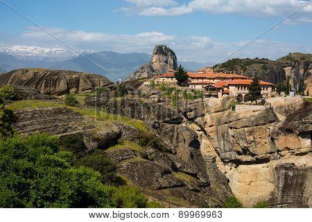 Agios Stefanos St Stefan Monastery On Meteora Cliff, Greece