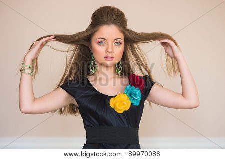 The Girl In A Dress From Flowers