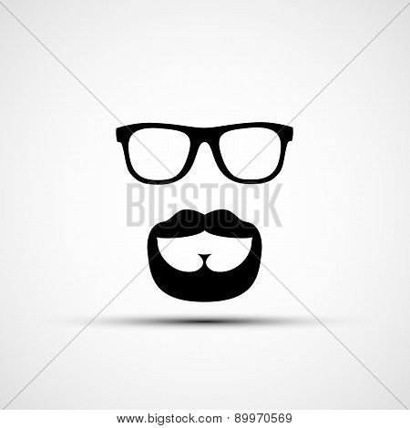Vector Illustration Of Glasses