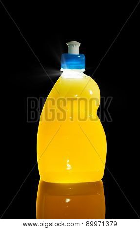 Yellow Plastic Bottle