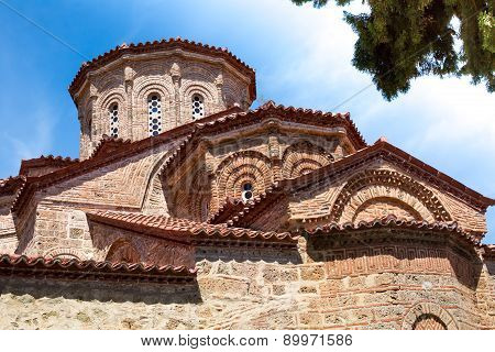 Church At Great Meteoro Monastery In Meteora Rocks, Kalambaka, Trikala, Greece