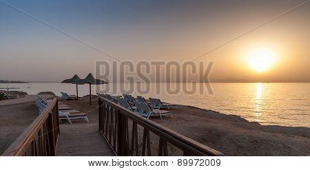 Sea Sunset in Egypt