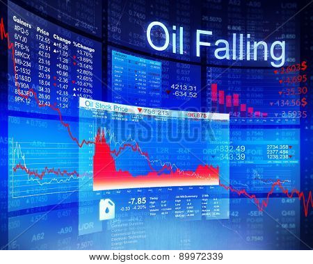 Oil Falling Economic Global Business Investment Concept