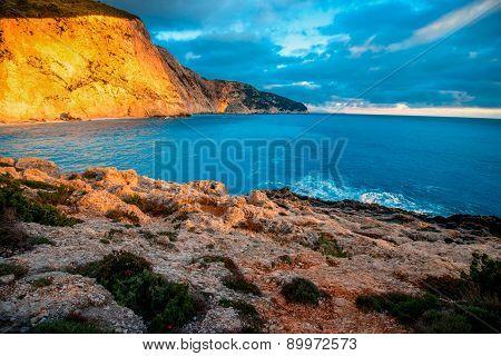Porto Katsiki coast on Lefkada island
