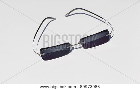 Fashionable Sunglasses On A White Background