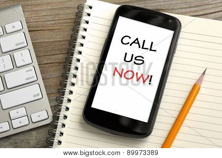 concept of Call Us now