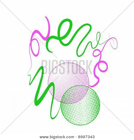 pink green abstract circles background