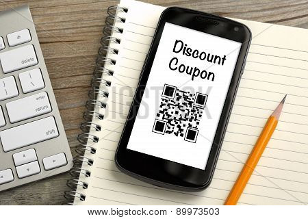 discount coupon concept on mobile phone