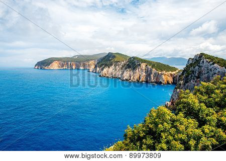 Coastline at Lefkada island in Greece