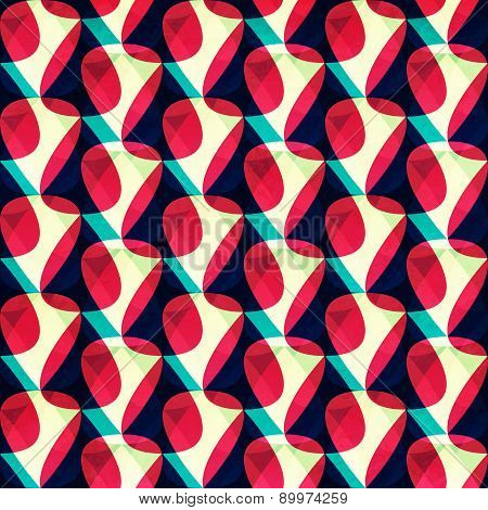 Petals Geometric Seamless Pattern