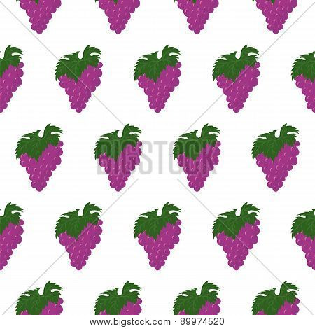 Seamless Pattern With Bunch Of Grapes