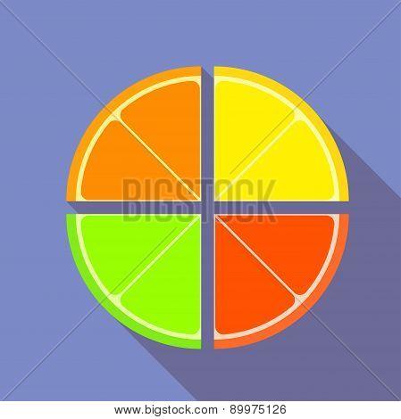 Flat Graphic Citrus Fruits