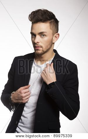 Fashion Young Man In Black