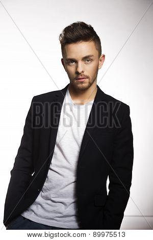 Fashion Shot Of Young Man