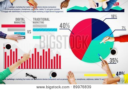 Digital Marketing Planning Strategy Growth Success Concept