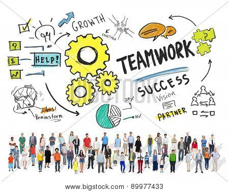 Teamwork Team Together Collaboration People Diversity Community Concept