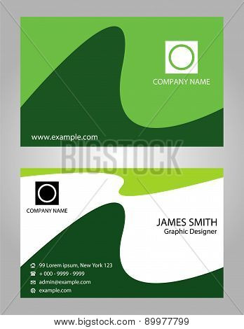 Creative green business cards