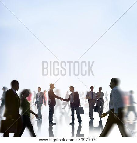 Businessmen Handshake Partnership Commuter Concept