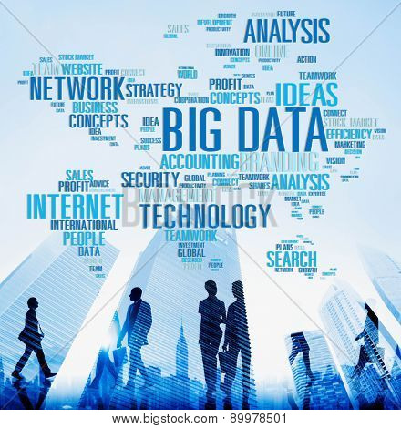 Big Data Network Technology Internet Online Concept