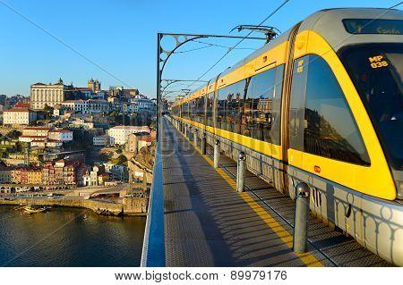 Modern Tram. Porto, Portugal