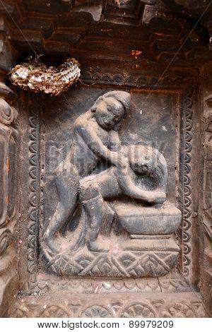 Erotic Carvings On Hindu Temples In Kathmandu, Nepal