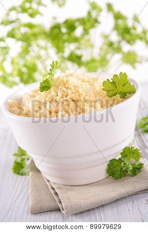 bowl of semolina