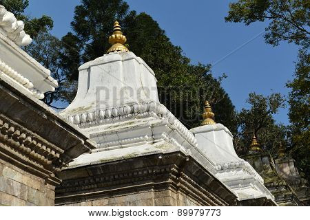 Ancient Hindu Temple In Pashupatinath Before The Earthquake That Destroyed Them. Kathmandu, Nepal