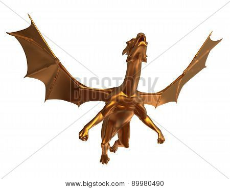 Soaring Golden Dragon
