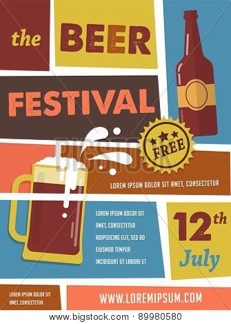 Vintage poster of beer festival