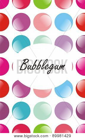 Seamless colourful bubblegum pattern