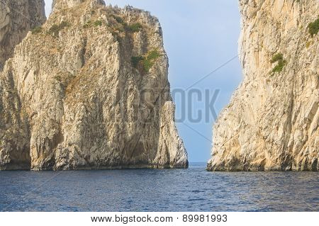 edges of cliffs